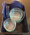 Pyrex glass containers with lids that fit!