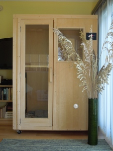 My sauna, cleverly disguised by sea oats.