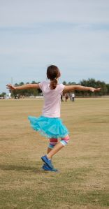 A previous victory dance in a great twirly skirt.