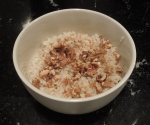 New problem, spreading food allergies.  Which means rice and nuts fro breakfast.
