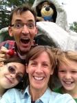 Family putt putt selfie.
