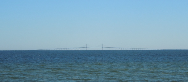 The Sunshine Skyway Bridge which crosses a very big gap.  I am using it today as a metaphor.  Though sometimes I drive across it and then I am glad it is an actual bridge.