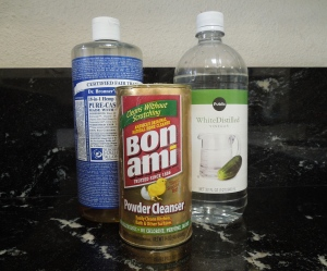 The triumvirate of house cleaning - Bonner's Soap, Bon Ami, and vinegar.  Also a long time stander at my house, these three really can do anything around the house that you need.